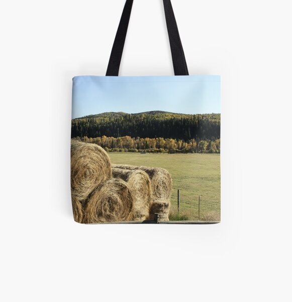Hay All Over Print Tote Bag