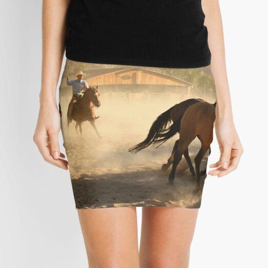 Cowboys and horses Mini Skirt