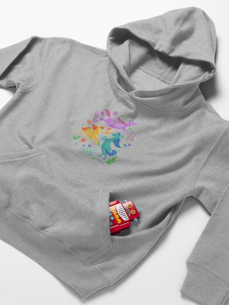 Alternate view of Unicorn Dreams Kids Pullover Hoodie