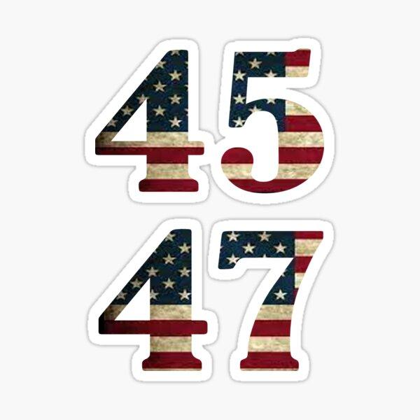 45 47 Trump 2024 Sticker