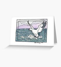 Snow Goose Watercolor Greeting Card