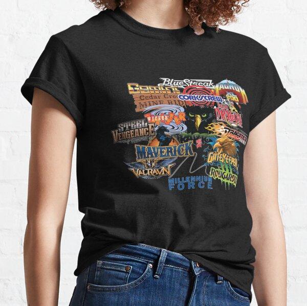Concepteur de montagnes russes Cedar Point T-shirt classique