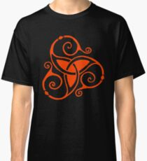 Celtic Spiral Tri Knot in Red Classic T-Shirt
