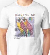 1991 Switzerland Owls Postage Stamp Unisex T-Shirt