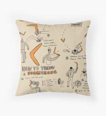 How to Throw a Boomerang Throw Pillow