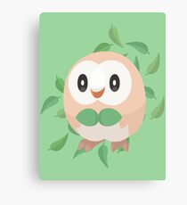 Pokemon Minimalist Rowlet Vector Canvas Print