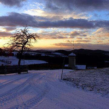 Amazing winter wonderland sundown | landscape photography by patrickjobst