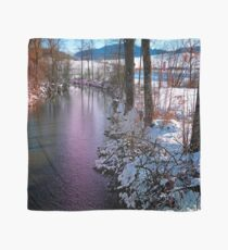Quiet river in winter time Scarf