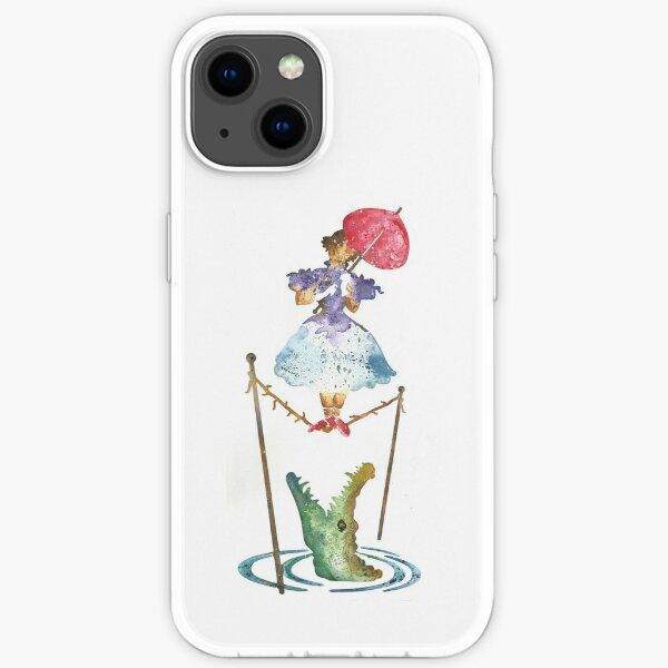 Perilous Pink Parasol - Stretching Portrait iPhone Soft Case