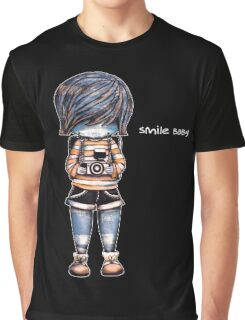 Smile Baby - Retro Tee Graphic T-Shirt