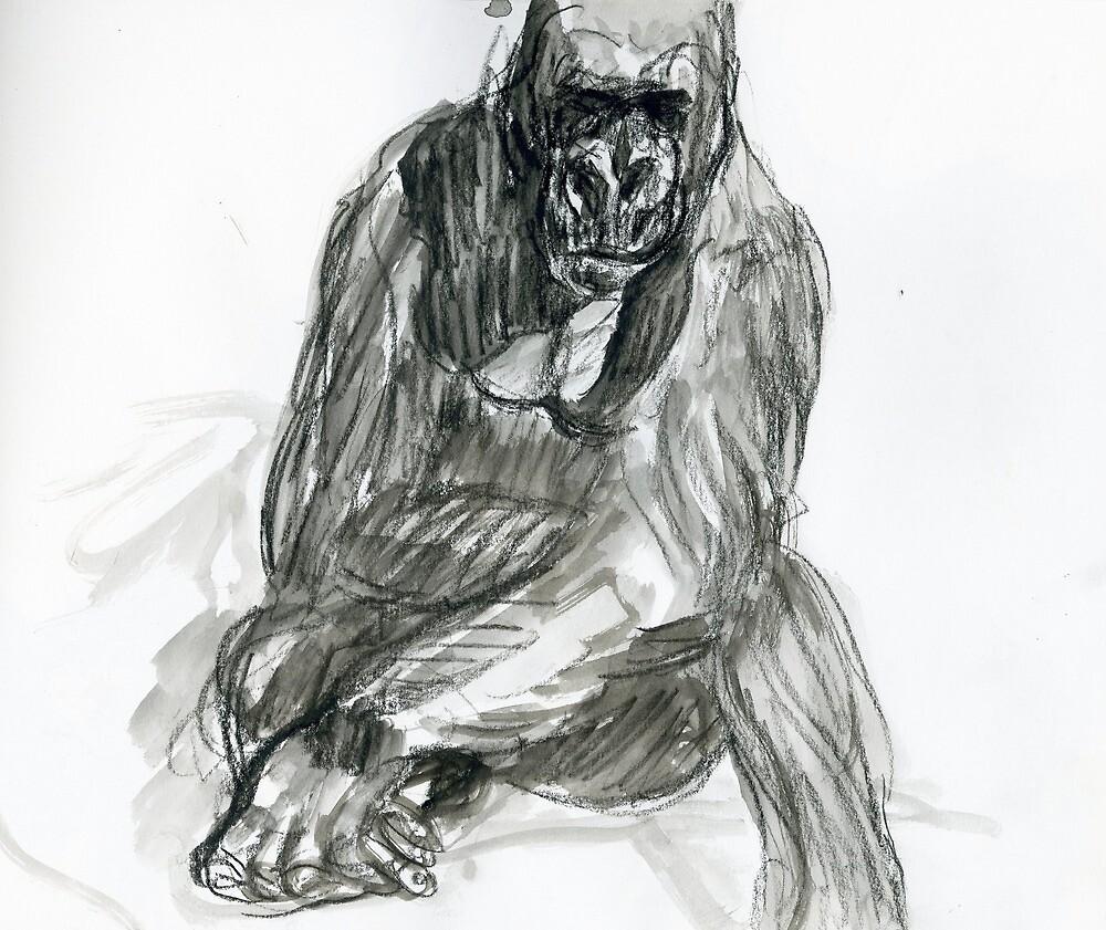 Gorilla Pose by WoolleyWorld