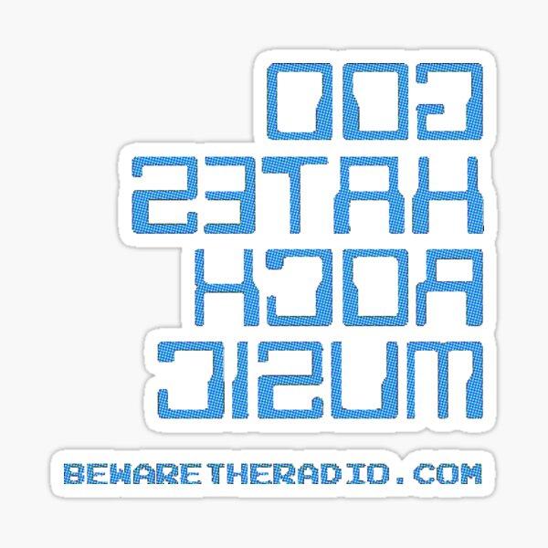 God Hates Rock Music (doG setaH kcoR cisuM) - backwards message Sticker