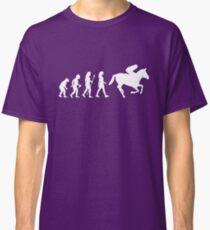 Funny Women's Horse Racing Jockey Evolution Silhouette Classic T-Shirt