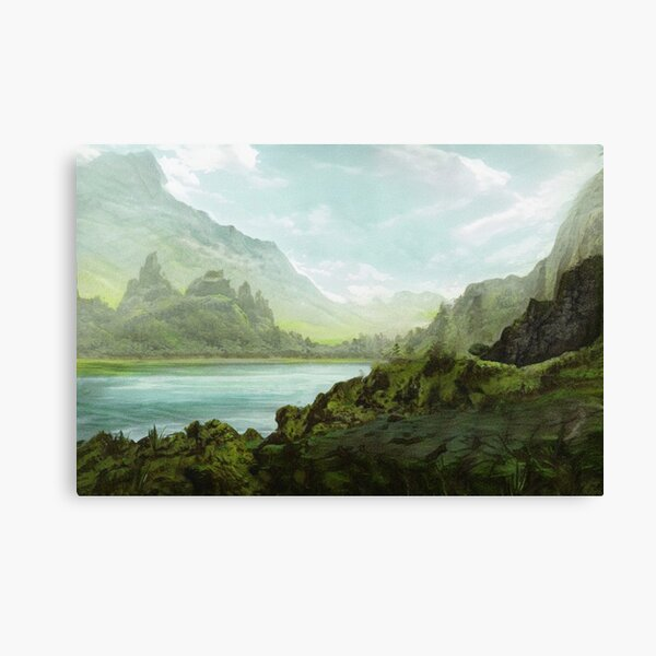 By The Loch. Gallery Collection Canvas Print