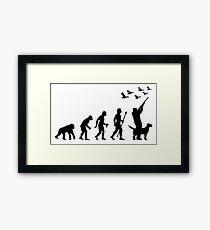 Duck Hunting Evolution Of Man Funny Silhouette Framed Print
