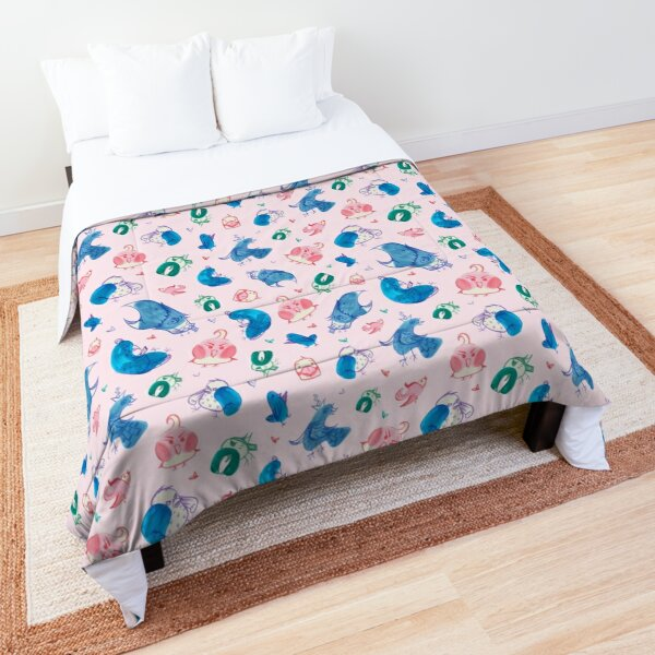 Colorful Birds (Pink) Comforter