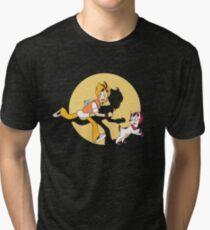 Mystery Skulls Animated - Arthur Tintin Tri-blend T-Shirt