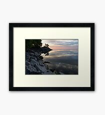 On the Rocks - Silky Colorful Lakeside Morning Framed Print