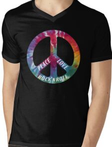 Peace, Love, Rock N' Roll Mens V-Neck T-Shirt