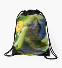 Nuphar Lutea Flower Drawstring Bag