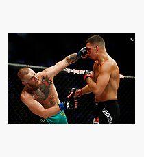 Conor McGregor vs. Nate Diaz UFC 202 Photographic Print
