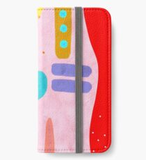 Red and Pink Happy Abstract Landscape iPhone Wallet/Case/Skin