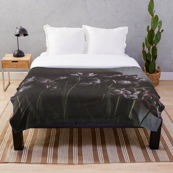 Midnight Bouquet Throw Blanket