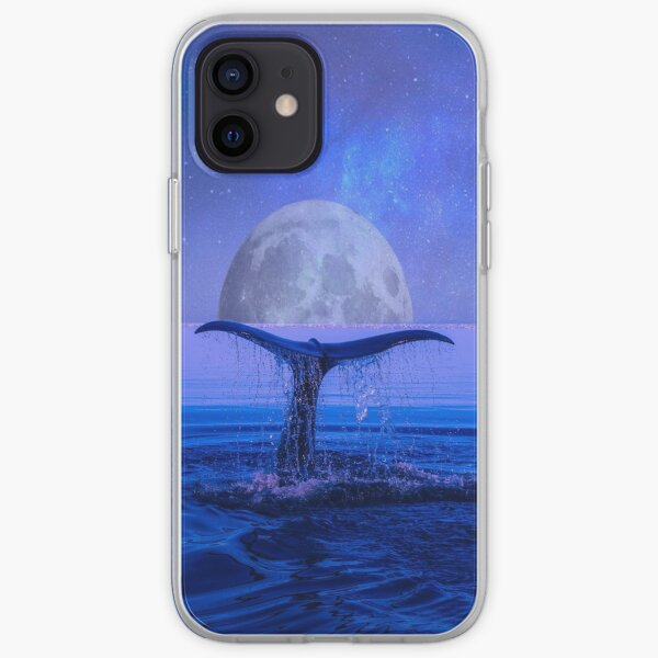 Whale under the moon  iPhone Soft Case