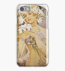 Alphonse Mucha - La Fleurflowers iPhone Case/Skin