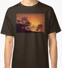 Tropical Island at Sunset 4 Classic T-Shirt