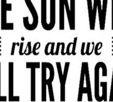 Twenty One Pilots truce typography Sticker