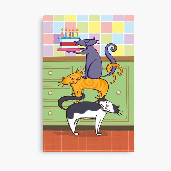 Cats Birthday Canvas Print