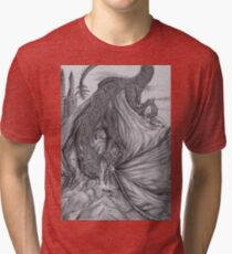 Hungarian horntail - BW Tri-blend T-Shirt