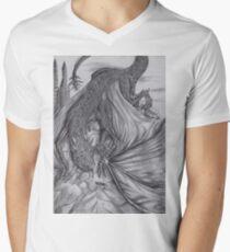 Hungarian horntail - BW Mens V-Neck T-Shirt