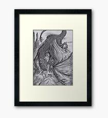 Hungarian horntail - BW Framed Print