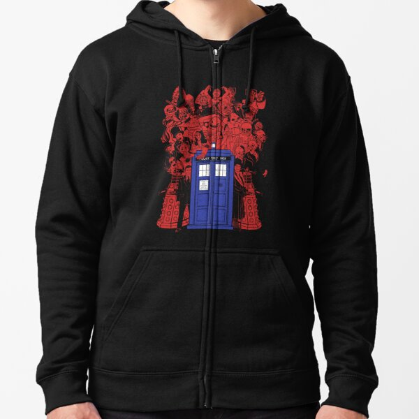 They Have The Phone Box... Zipped Hoodie