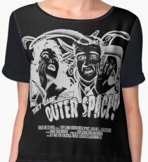 They Came From Outer Space! - Black Edition Chiffon Top