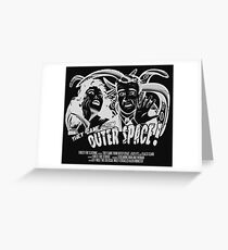 They Came From Outer Space! - Black Edition Greeting Card