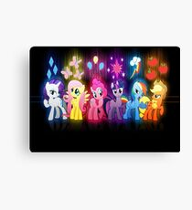 My Little Pony Neon Poster Canvas Print