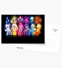 My Little Pony Neon Poster Postcards