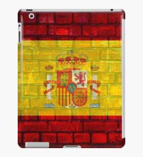 Spain flag painted on a brick wall in an urban location iPad Case/Skin