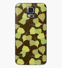 Birch leaves brown background Case/Skin for Samsung Galaxy