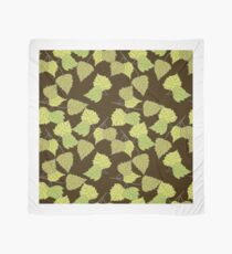 Birch leaves brown background Scarf