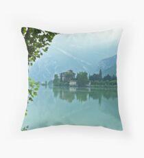 ... romantic fairytale-like fortress, Lake Toblino, Trento, Italy ~ 4 ~ Throw Pillow