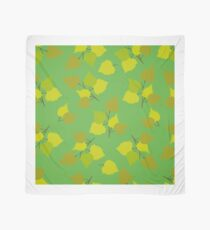 Birch leaves green background Scarf