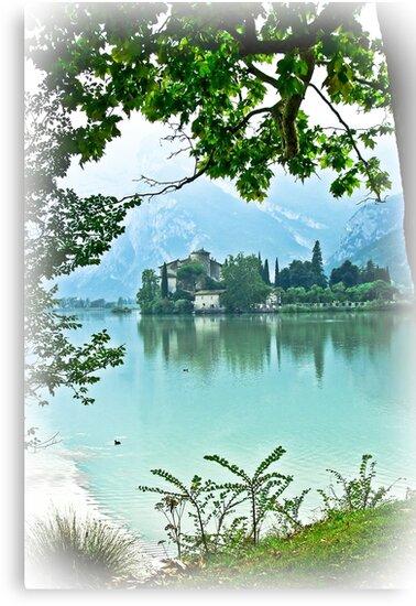... romantic fairytale-like fortress, Lake Toblino, Trento, Italy ~ 2 ~ by Rachel Veser