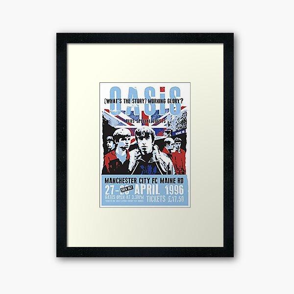 Liam gaIlagher Poster Framed Art Print