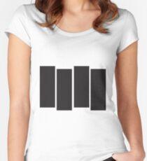Black Flag Logo Bars Only Women's Fitted Scoop T-Shirt