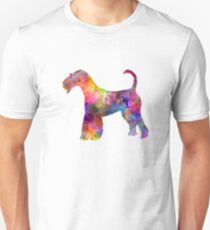 Airedale Terrier 01 in watercolor Unisex T-Shirt