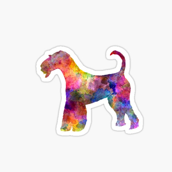 Airedale Terrier 01 in watercolor Sticker